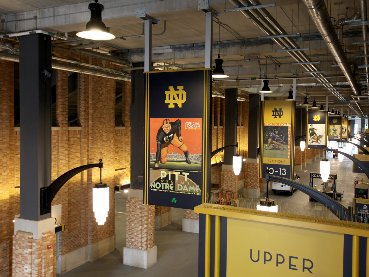 University of Notre Dame Indoor Stadium Signage