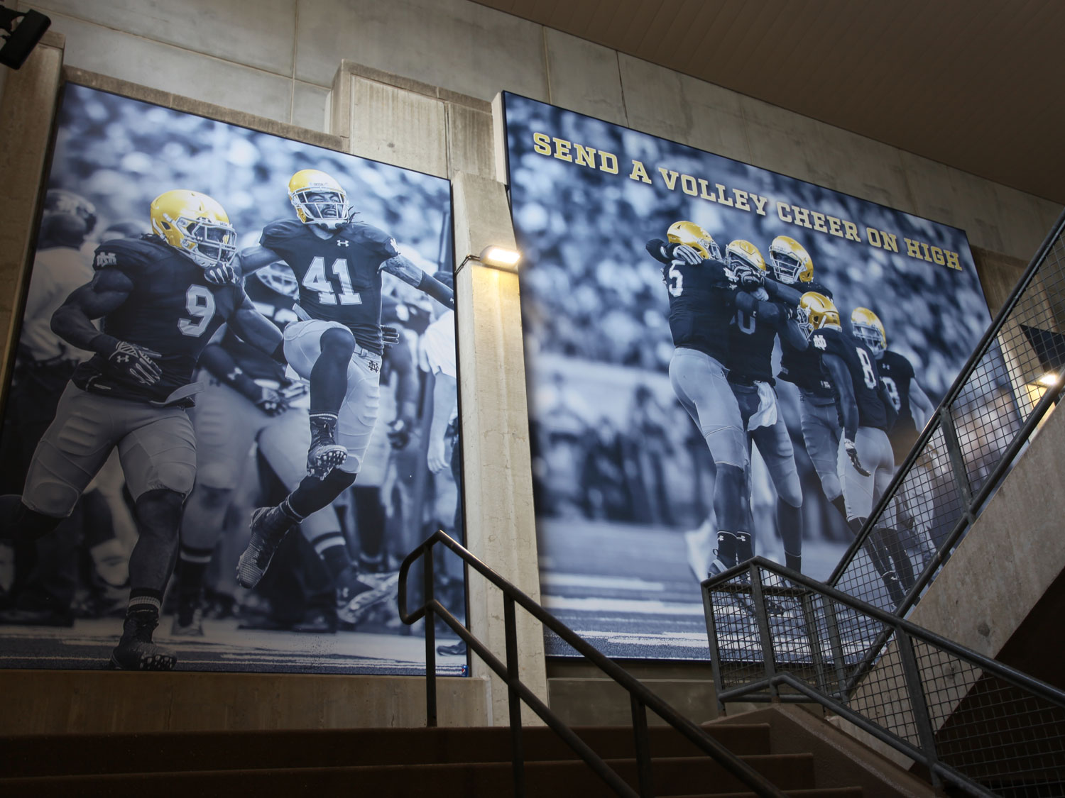 University of Notre Dame Indoor Large Stairwell Graphics