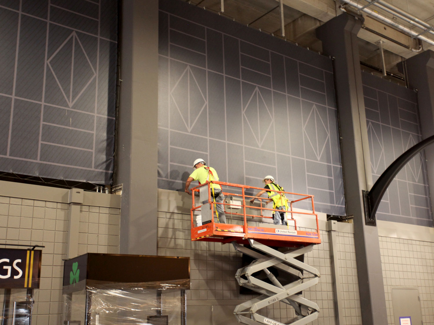 University of Notre Dame Indoor Stadium Signage Installation