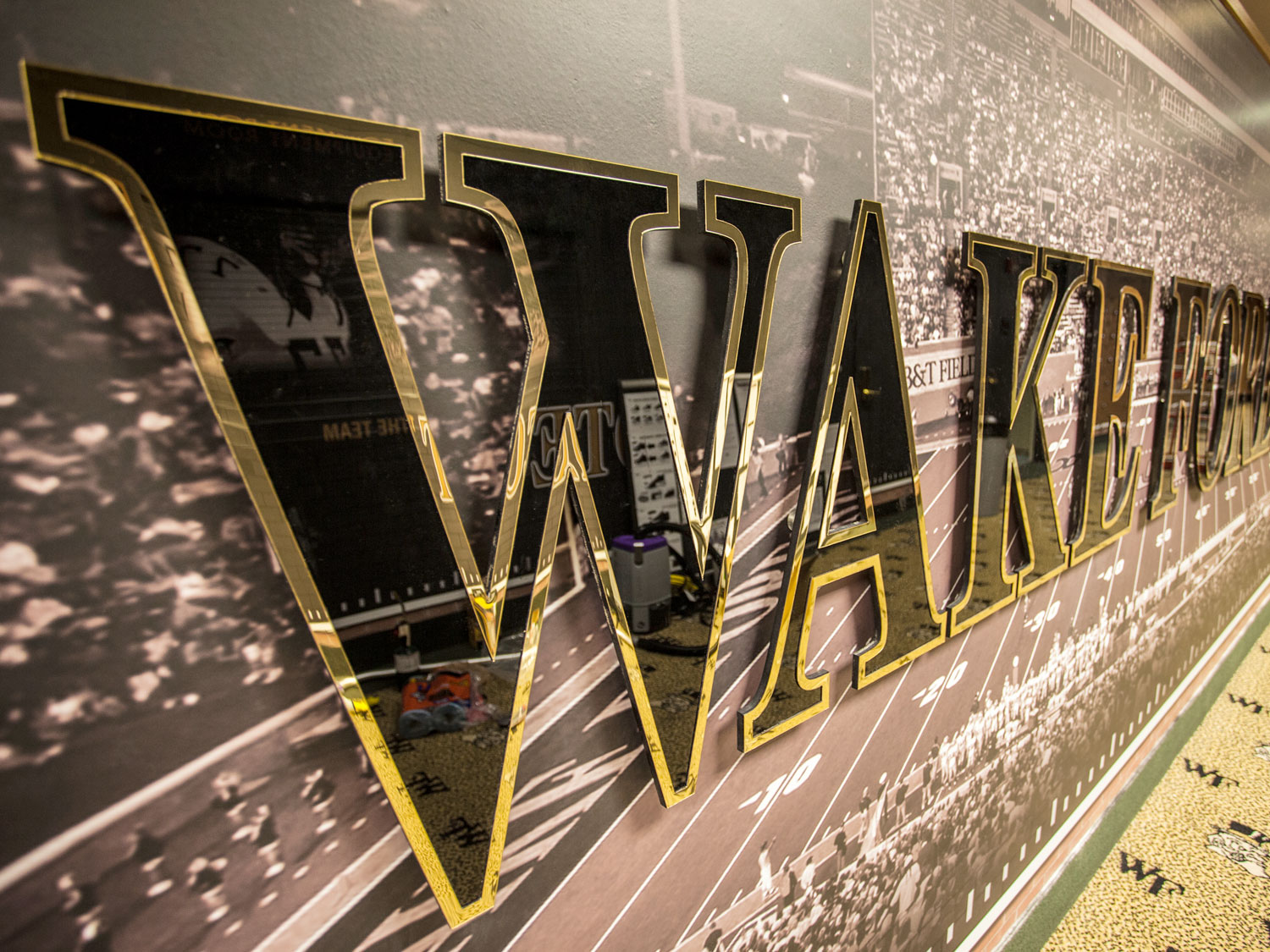 Wake Forest High School Dimensional Signage and Wall Graphics