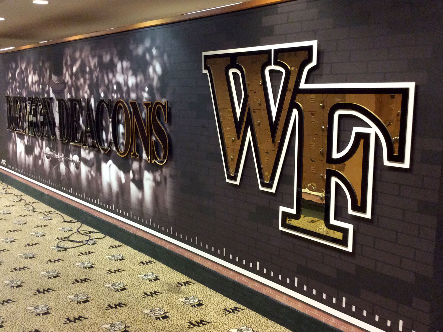 Wake Forest High School Wall Graphics and Dimensional Signage