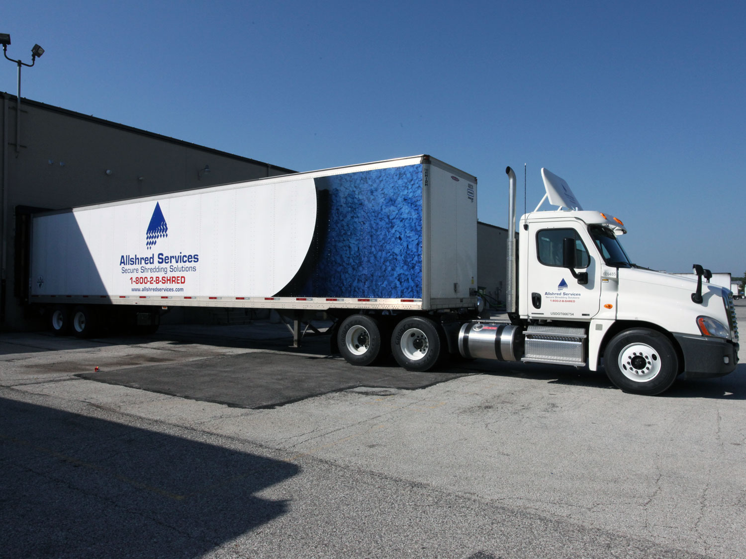 Allshred Services Truck and Trailer Graphics
