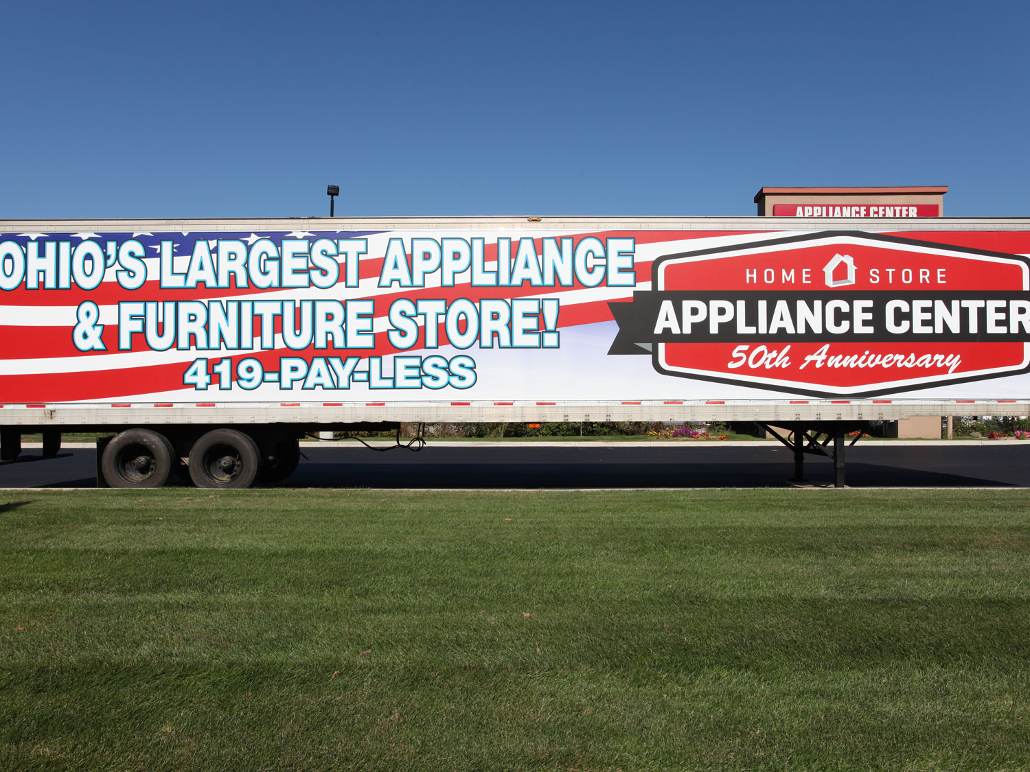 Appliance Center Trailer Wrap Graphics