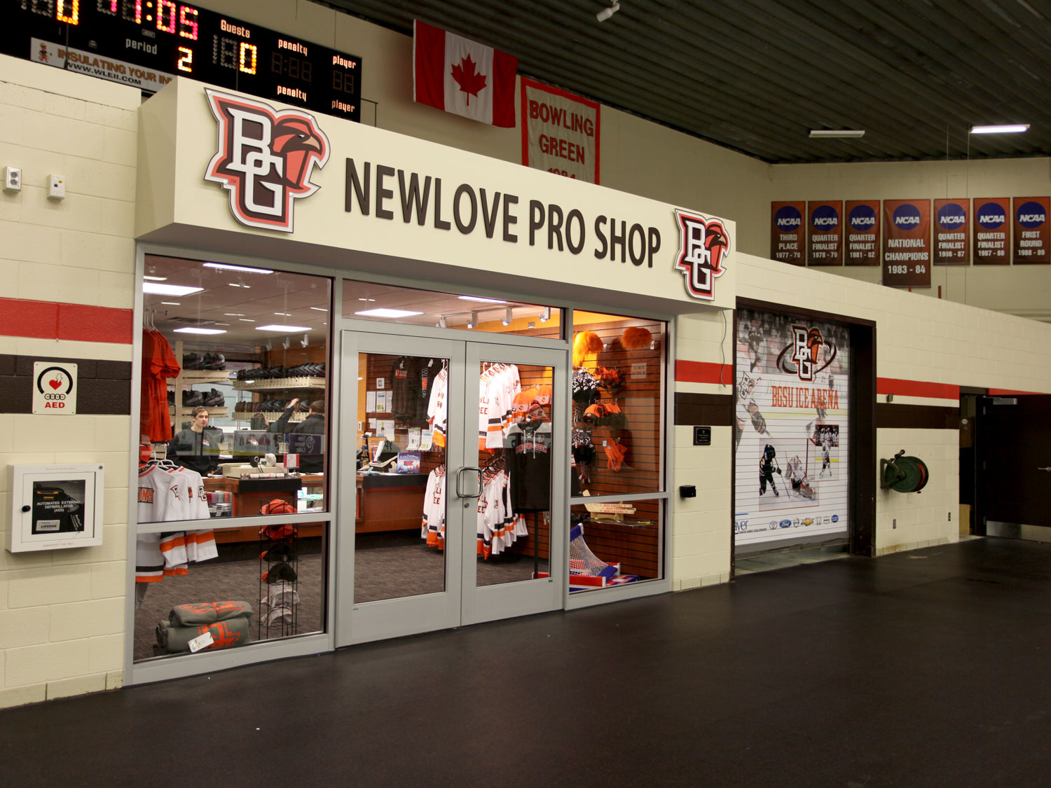 Bowling Green State University Hockey Pro Shop Signage