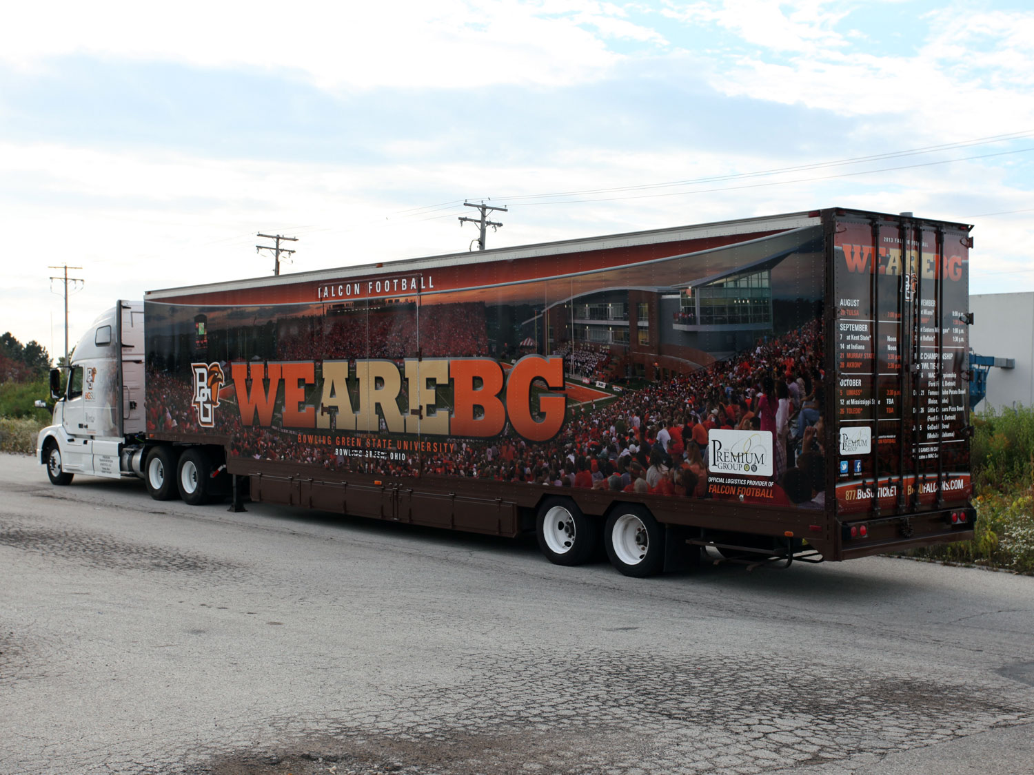 Bowling Green State University Football Truck and Trailer Graphics