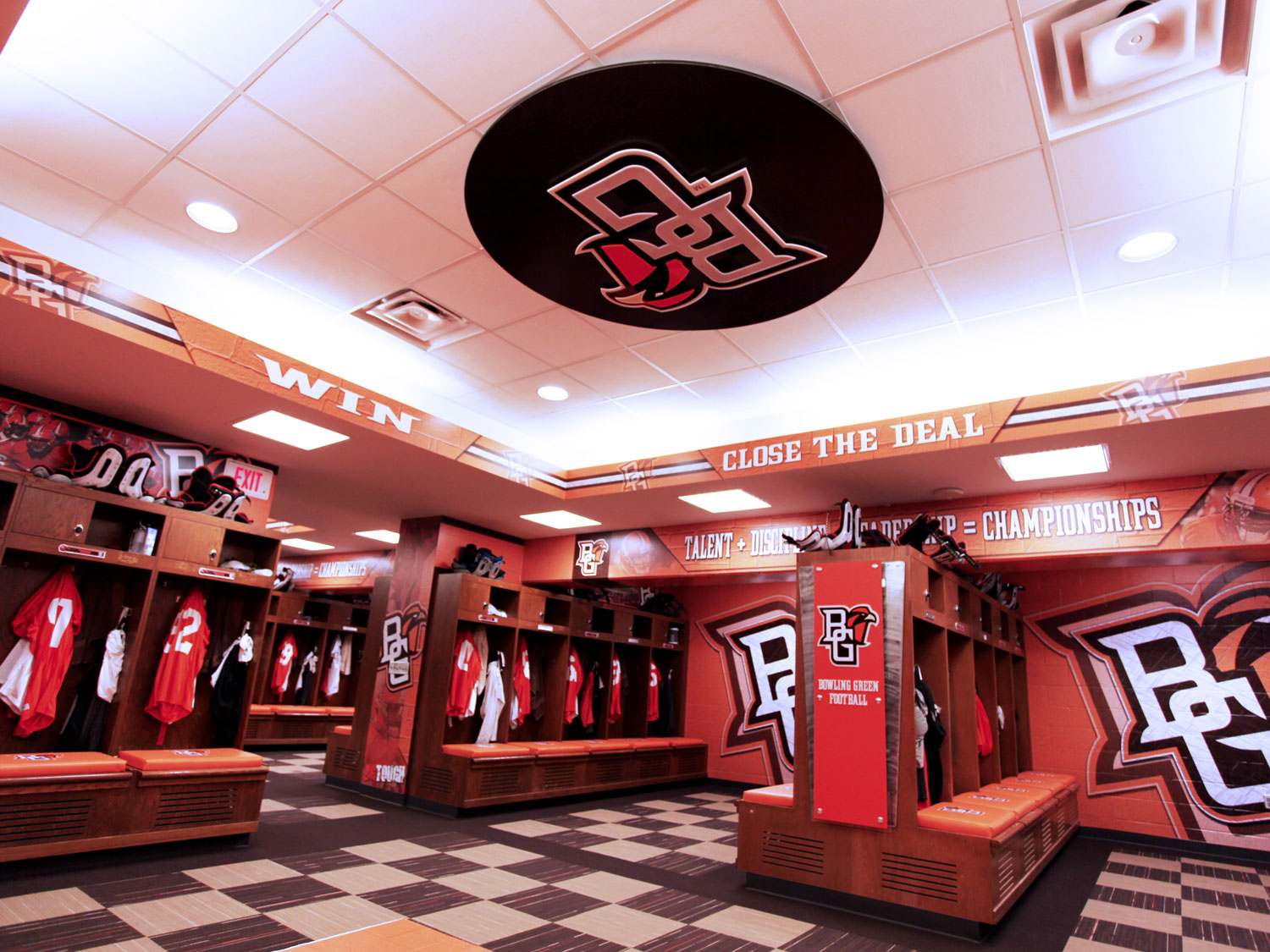 Bowling Green State University Football Locker Room