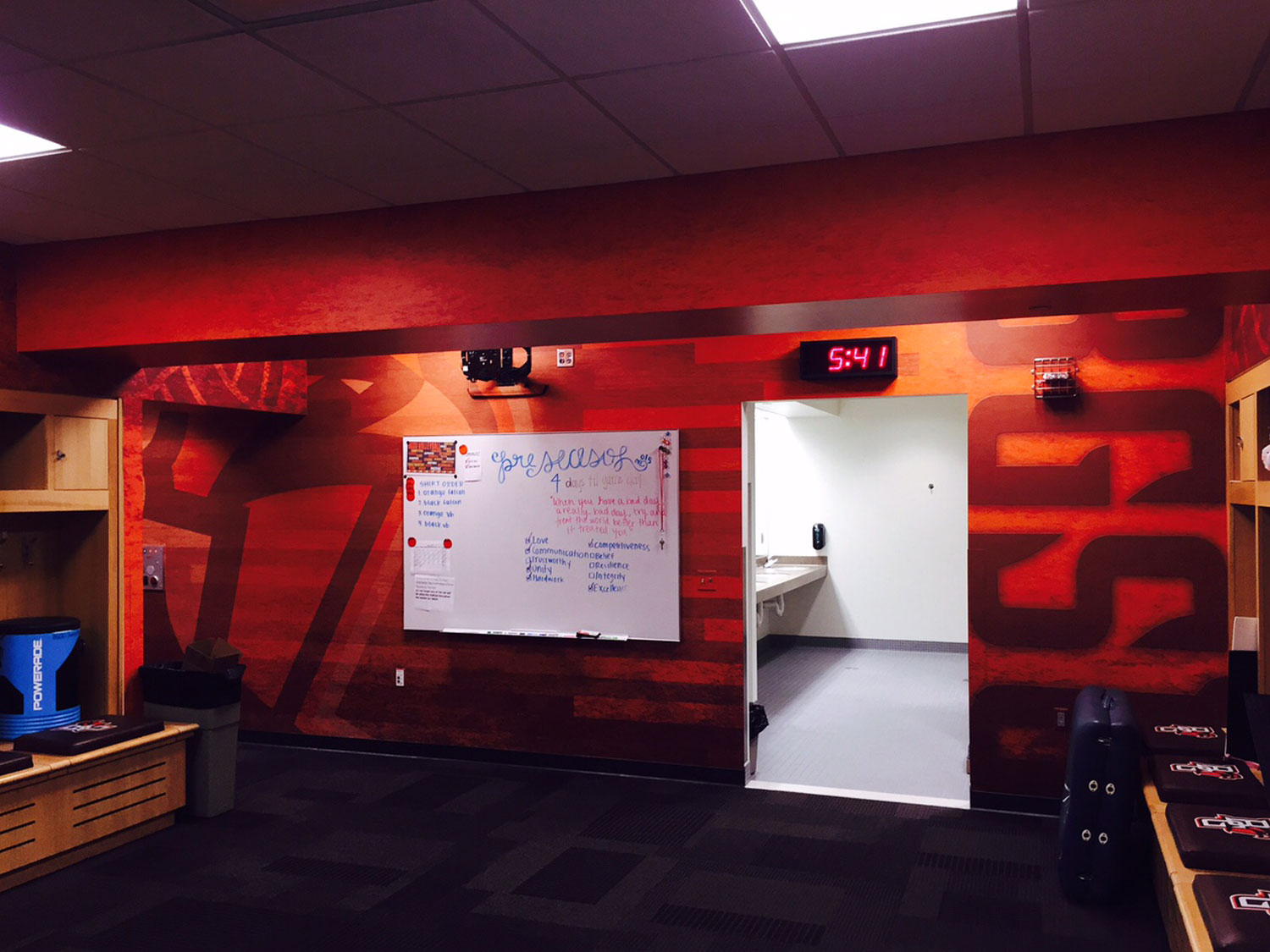 Bowling Green State University Volleyball Locker Room Signage