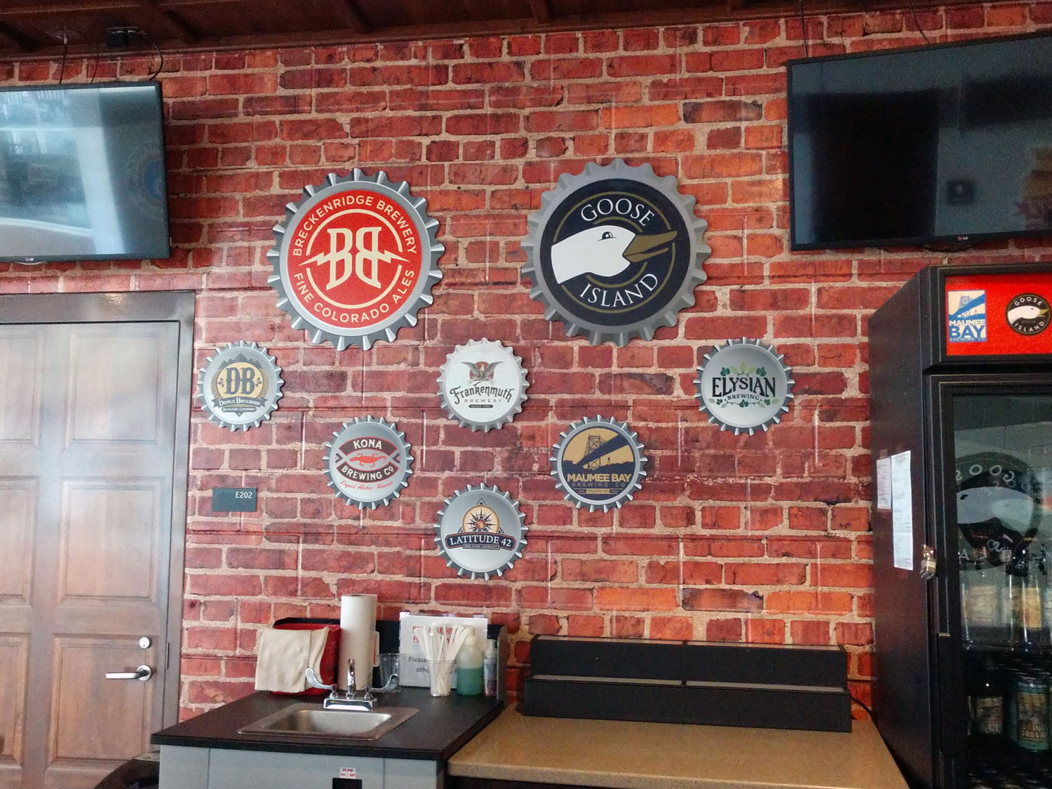 Bar Bottle Cap Wall Display