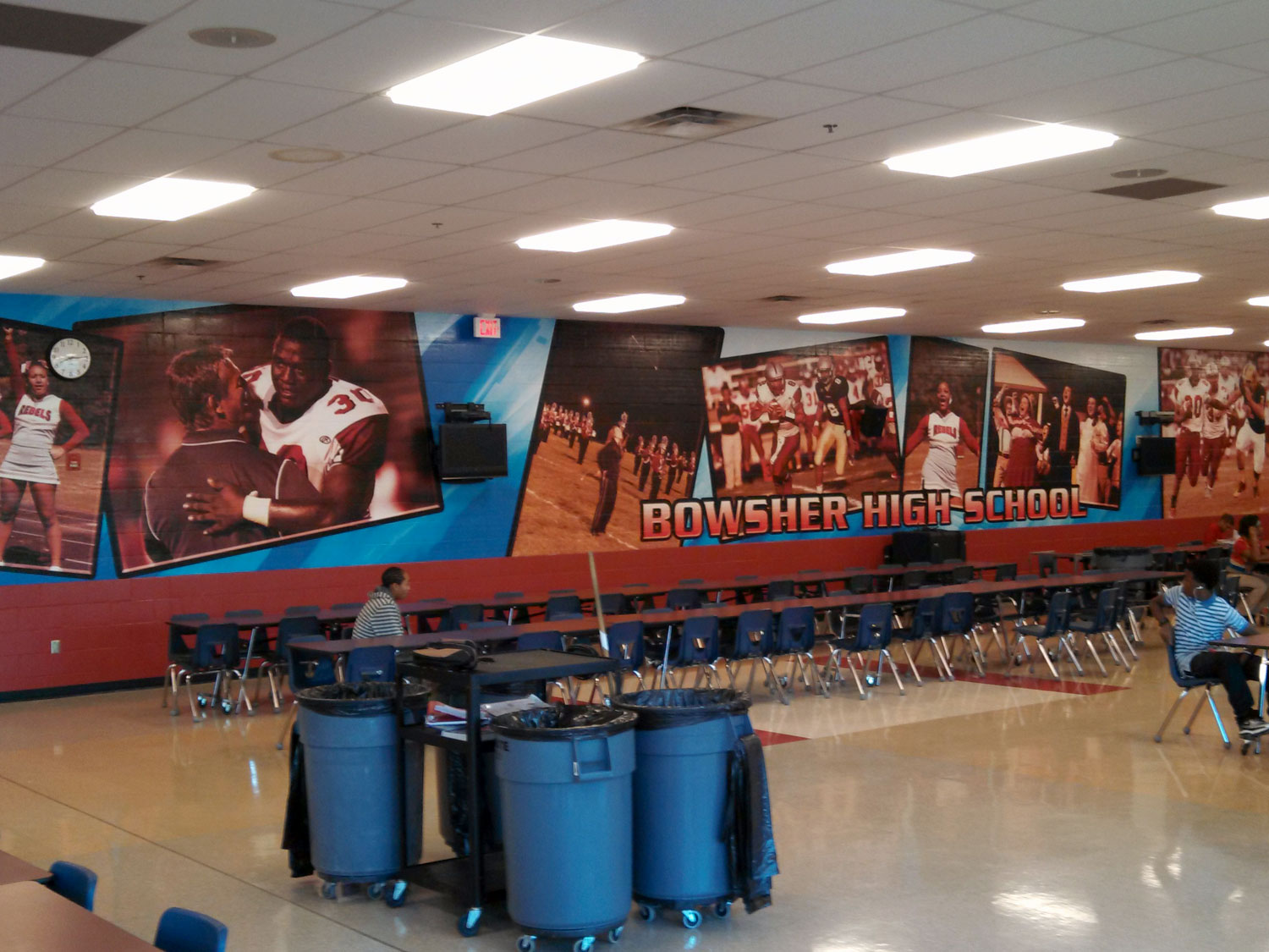 Toledo Bowsher High School Cafeteria Wall Graphic