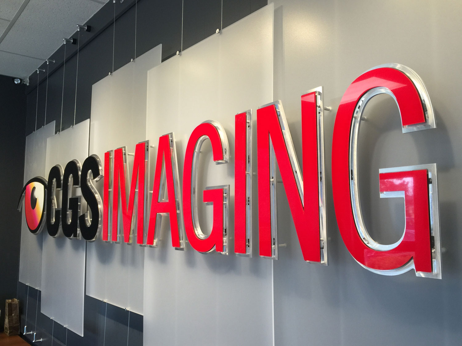 CGS Imaging Hanging Logo Acrylic Display