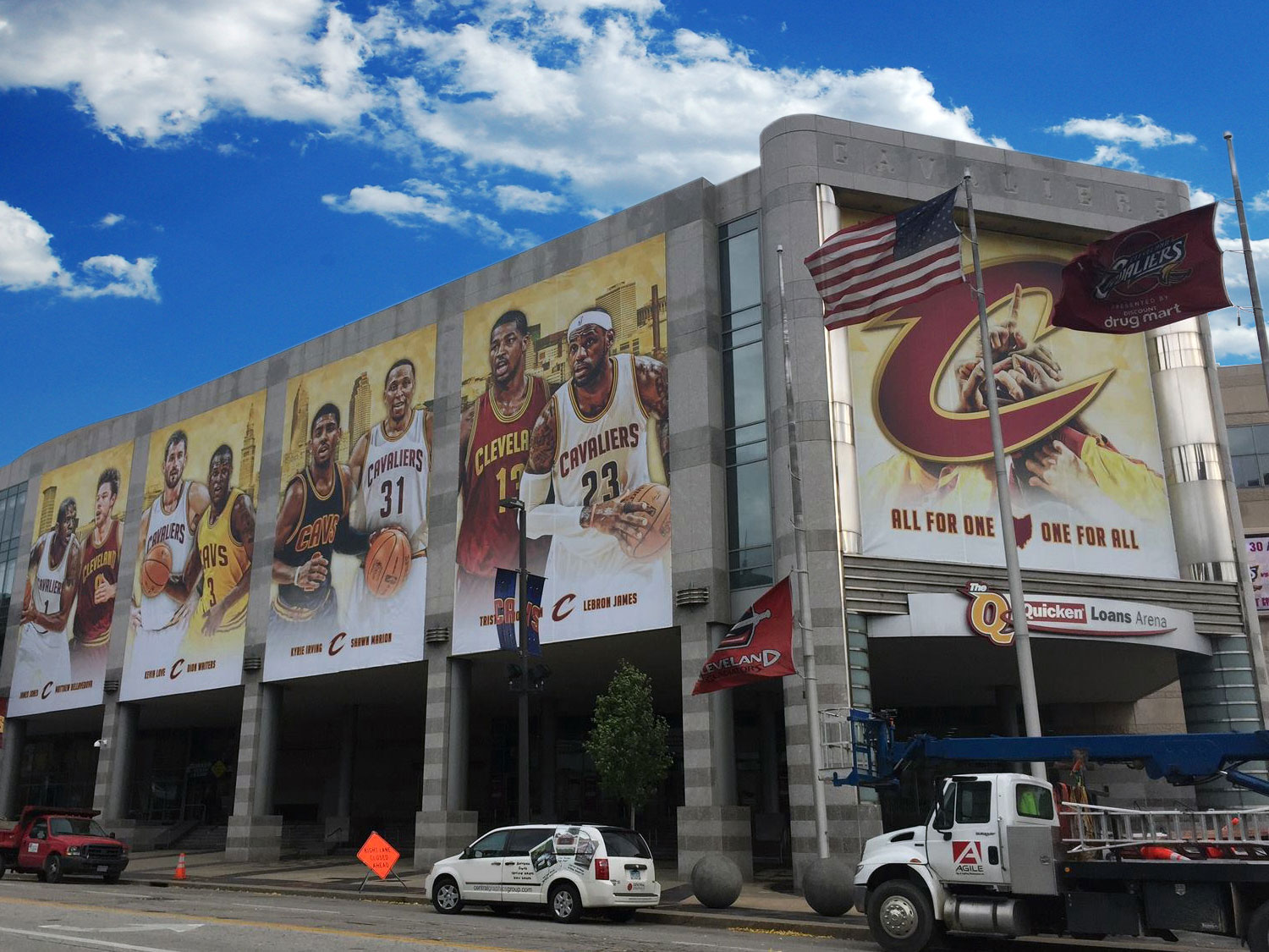 Cleveland Cavaliers Building Banner Graphics