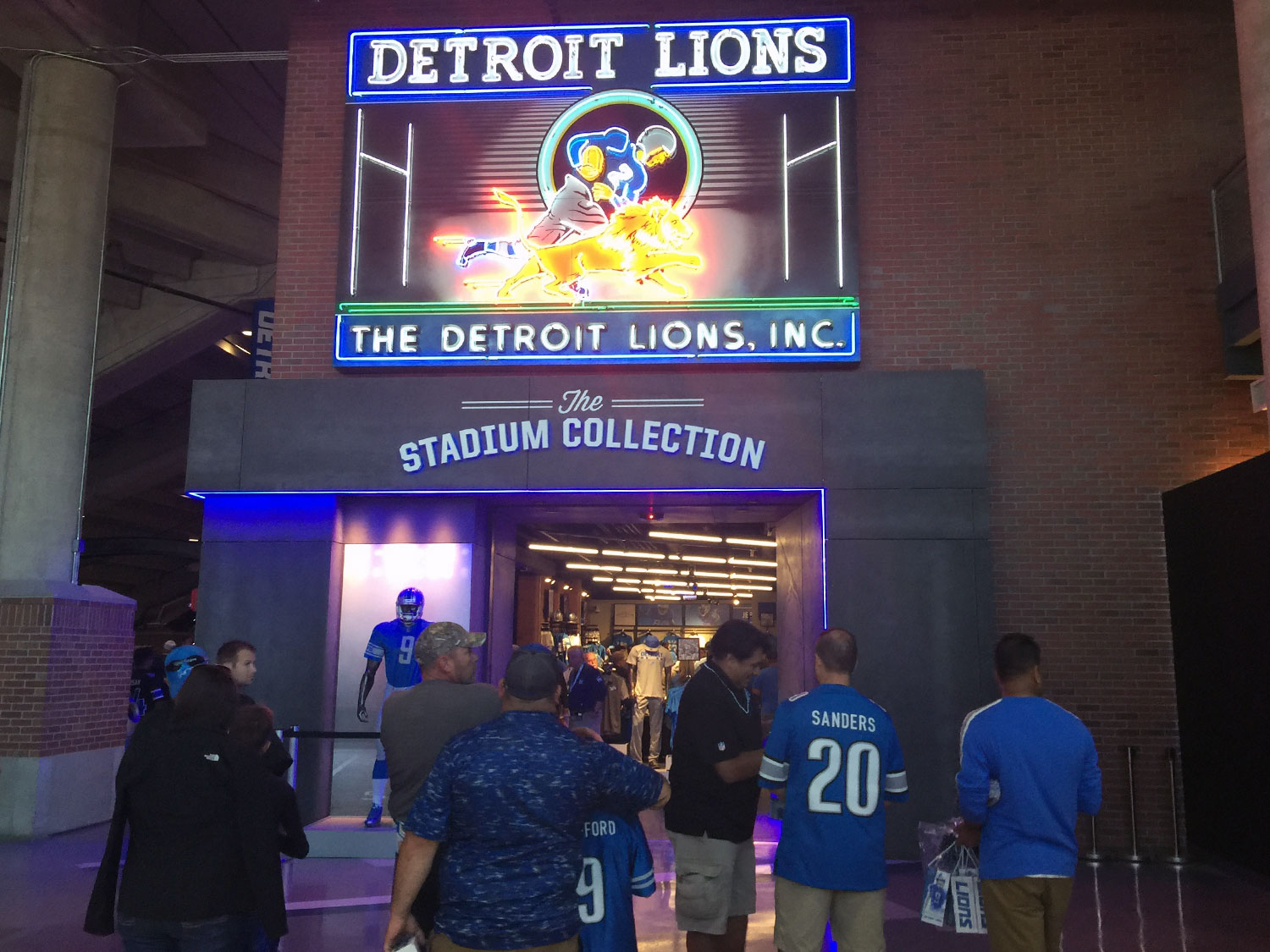 Detroit Lions Ford Field Signage