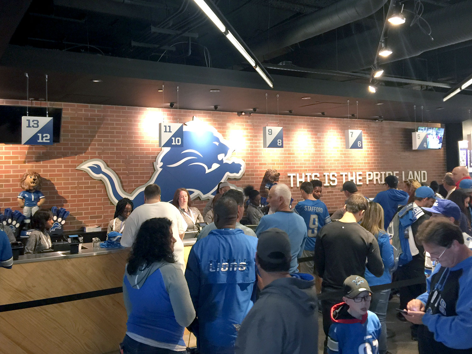 Detroit Lions Ford Field Official Team Store Graphics and Signage
