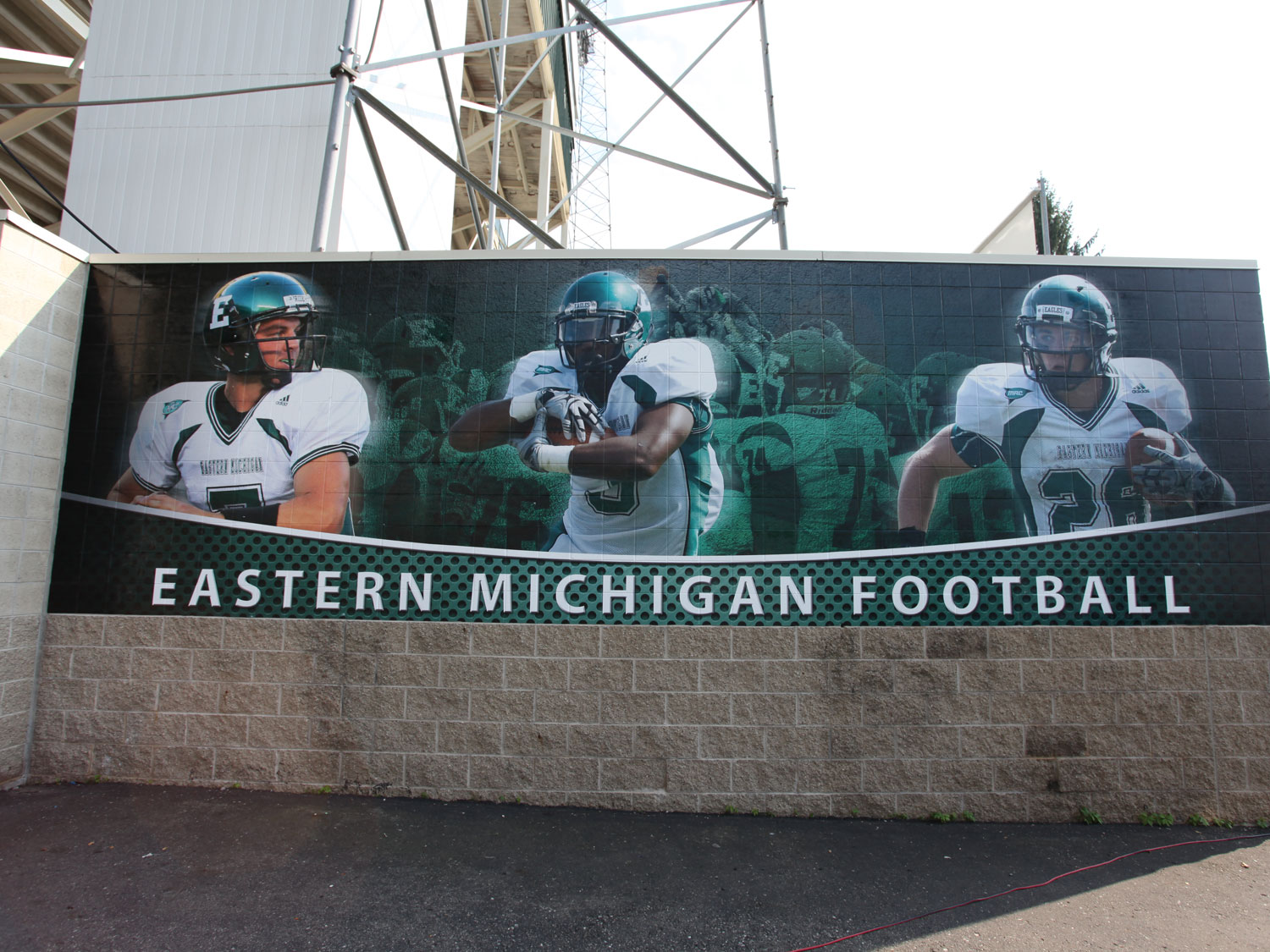 Eastern Michigan University Football Stadium Textured Graphics