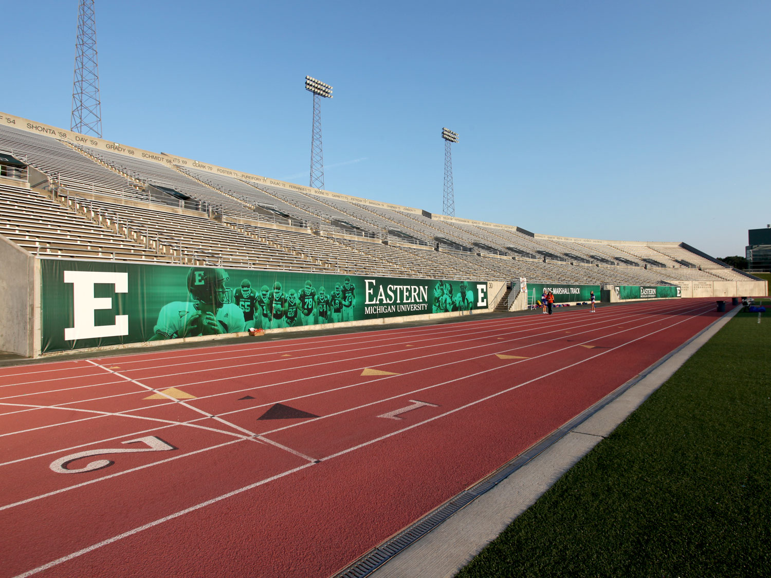 Eastern Michigan University Football Stadium Graphics