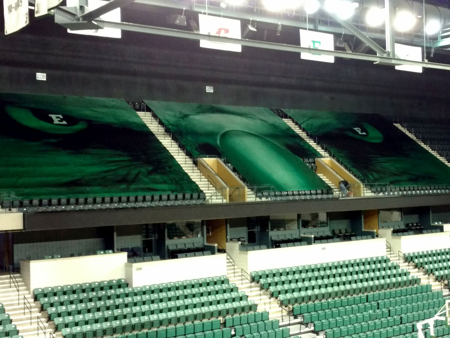 Eastern Michigan University Arena Graphics