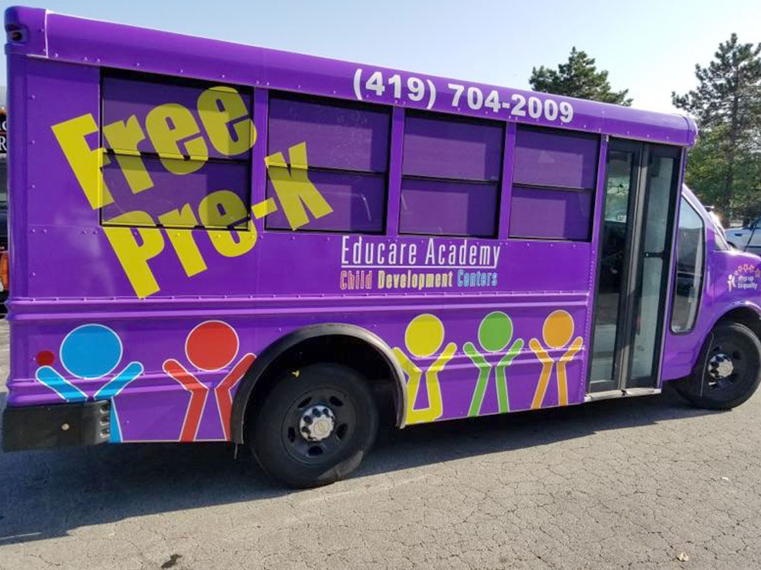 Educare Academy Child Development Centers Bus Graphics