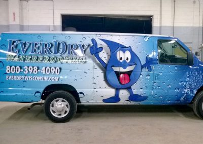 Everydry Waterproofing Van Graphics