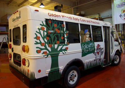 Gilden Woods Early Care and Preschool Bus Graphics