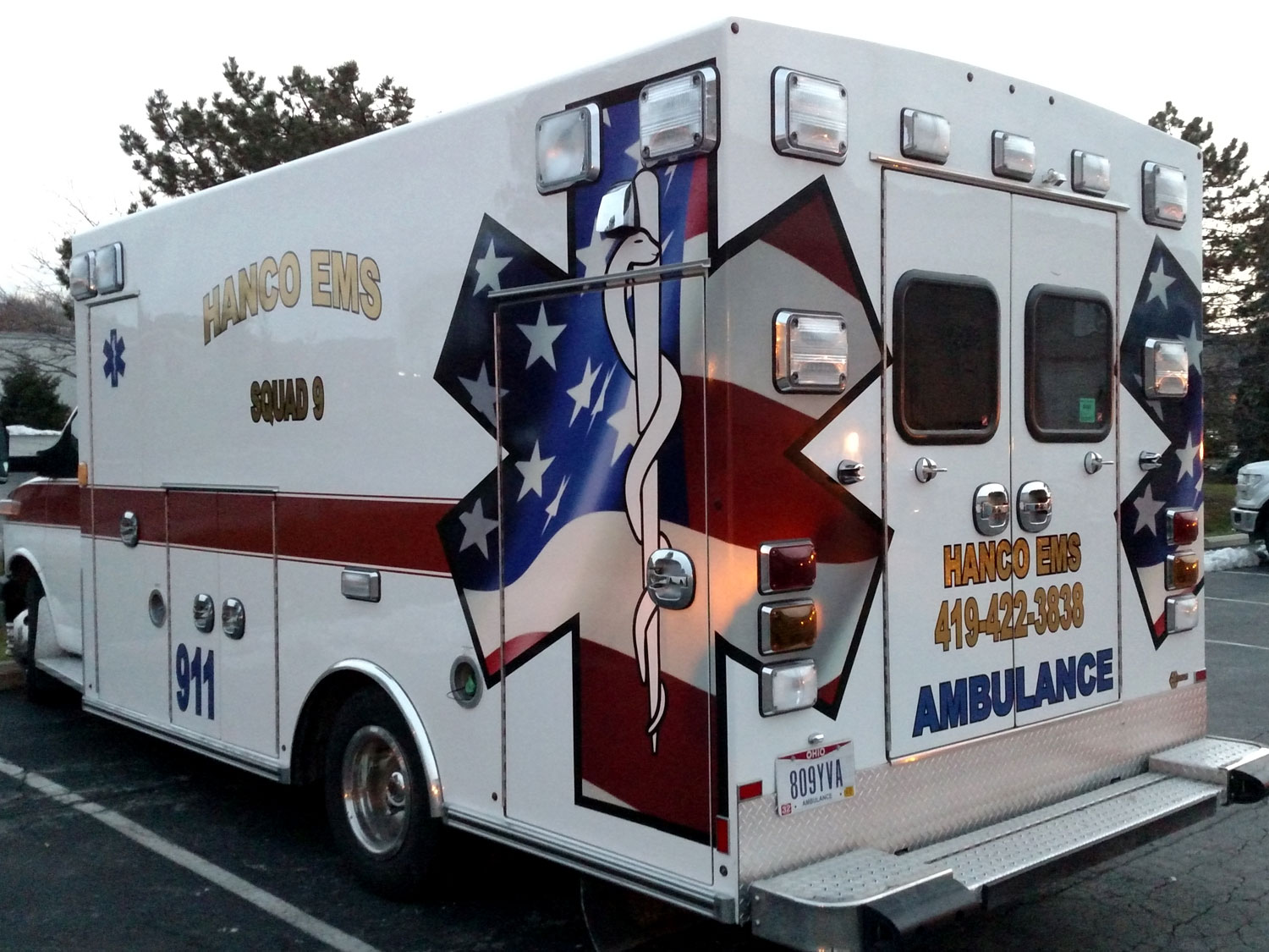 Hancock County EMS Ambulance Graphics