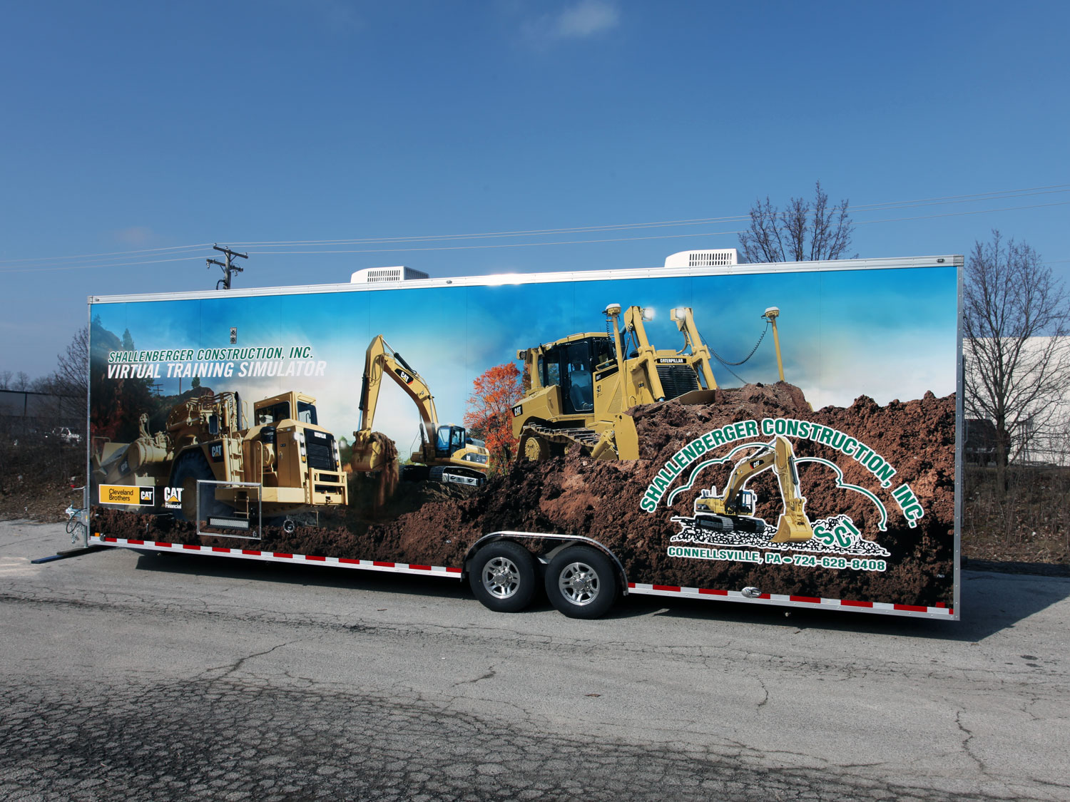 Shallenberger Construction Trailer Wrap Graphics