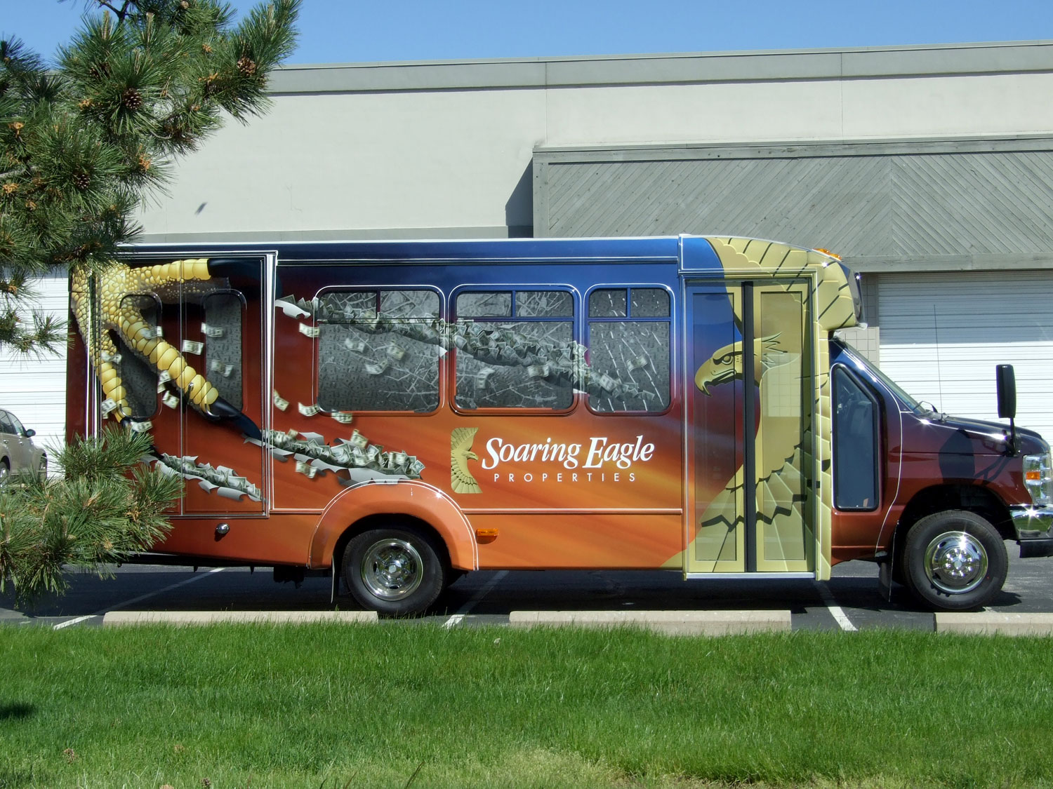 Soaring Eagle Properties Bus Graphics