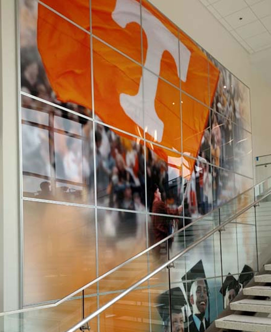University of Tennessee Stairwell Acrylic Graphic Display