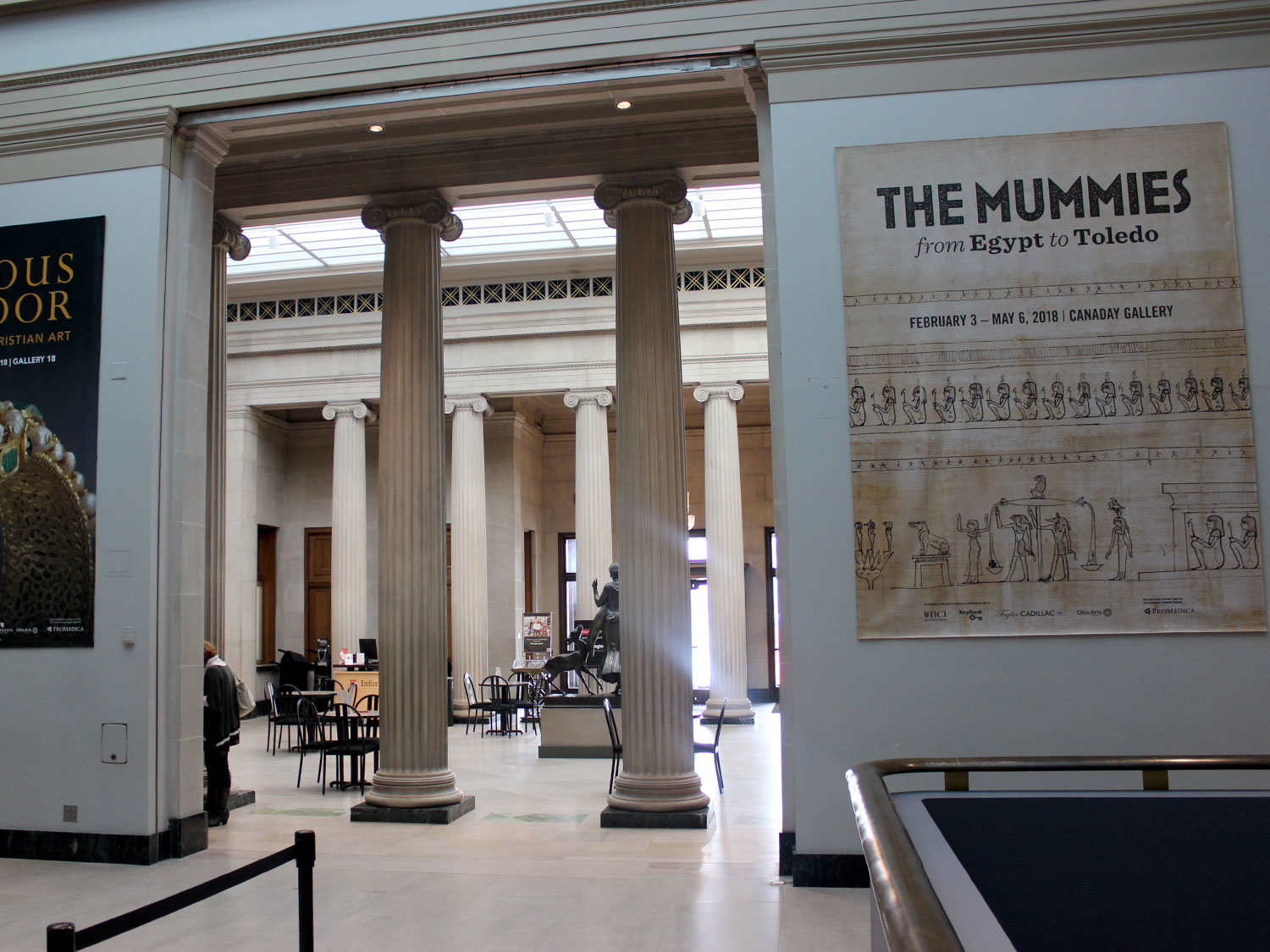 Toledo Art Museum Mummies Exhibit Display