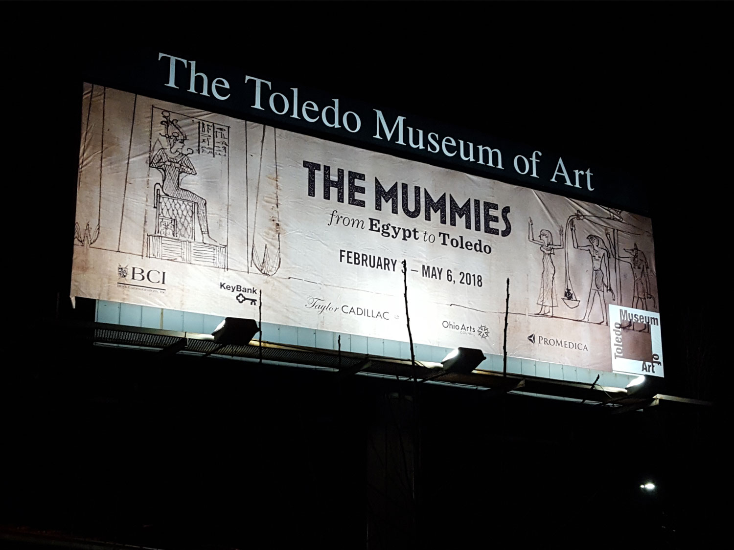 Toledo Art Museum Mummies Exhibit Display Billboard
