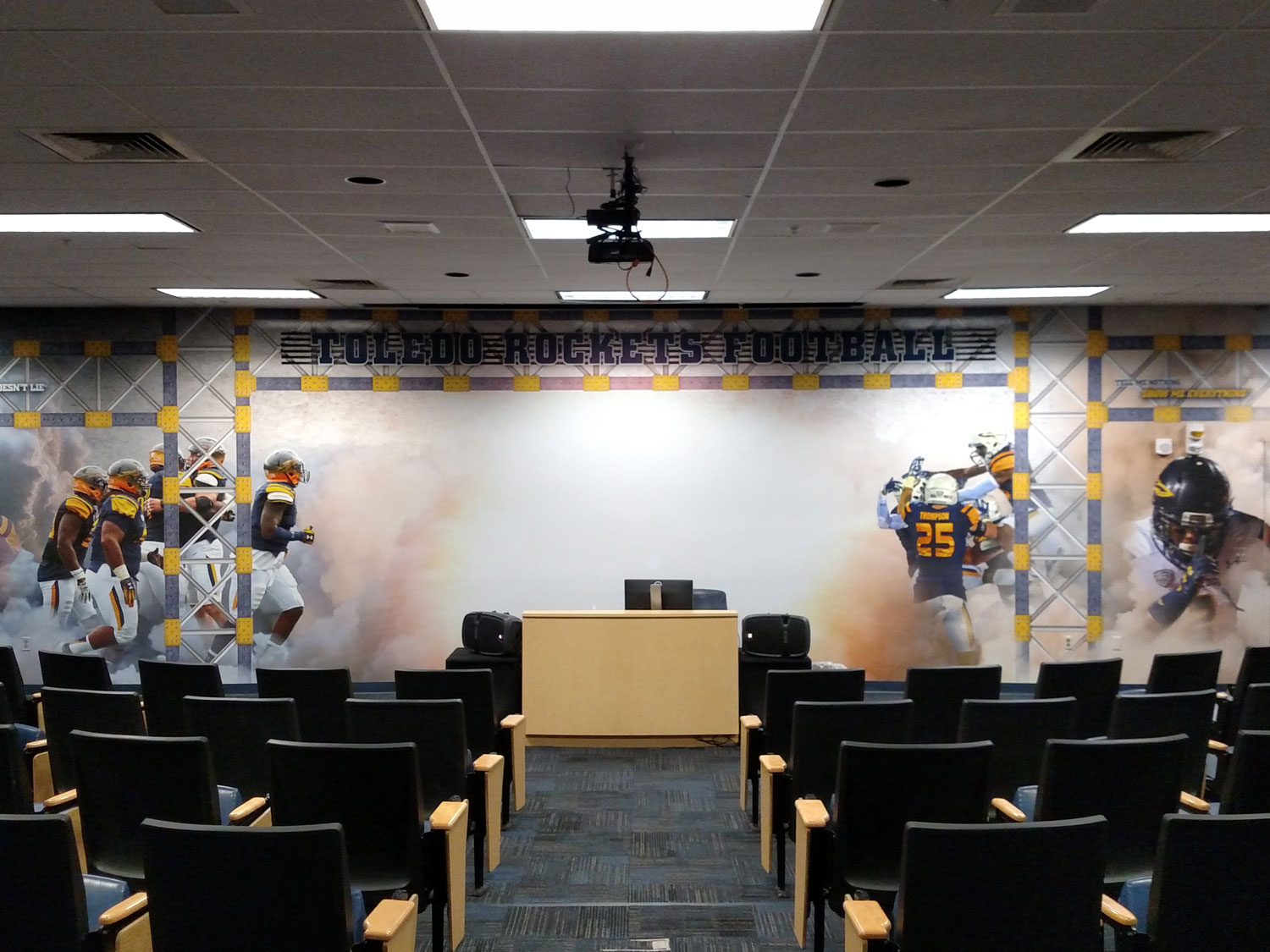 University of Toledo Football Wall Graphics