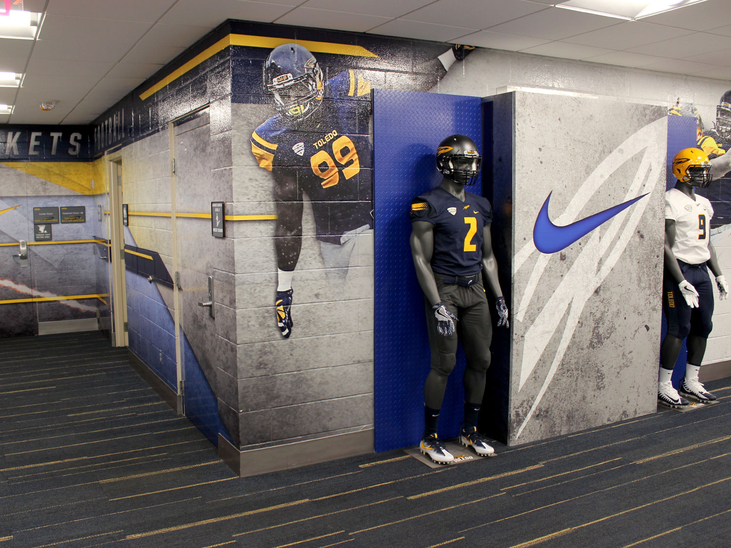 University of Toledo Larimer NFL Display