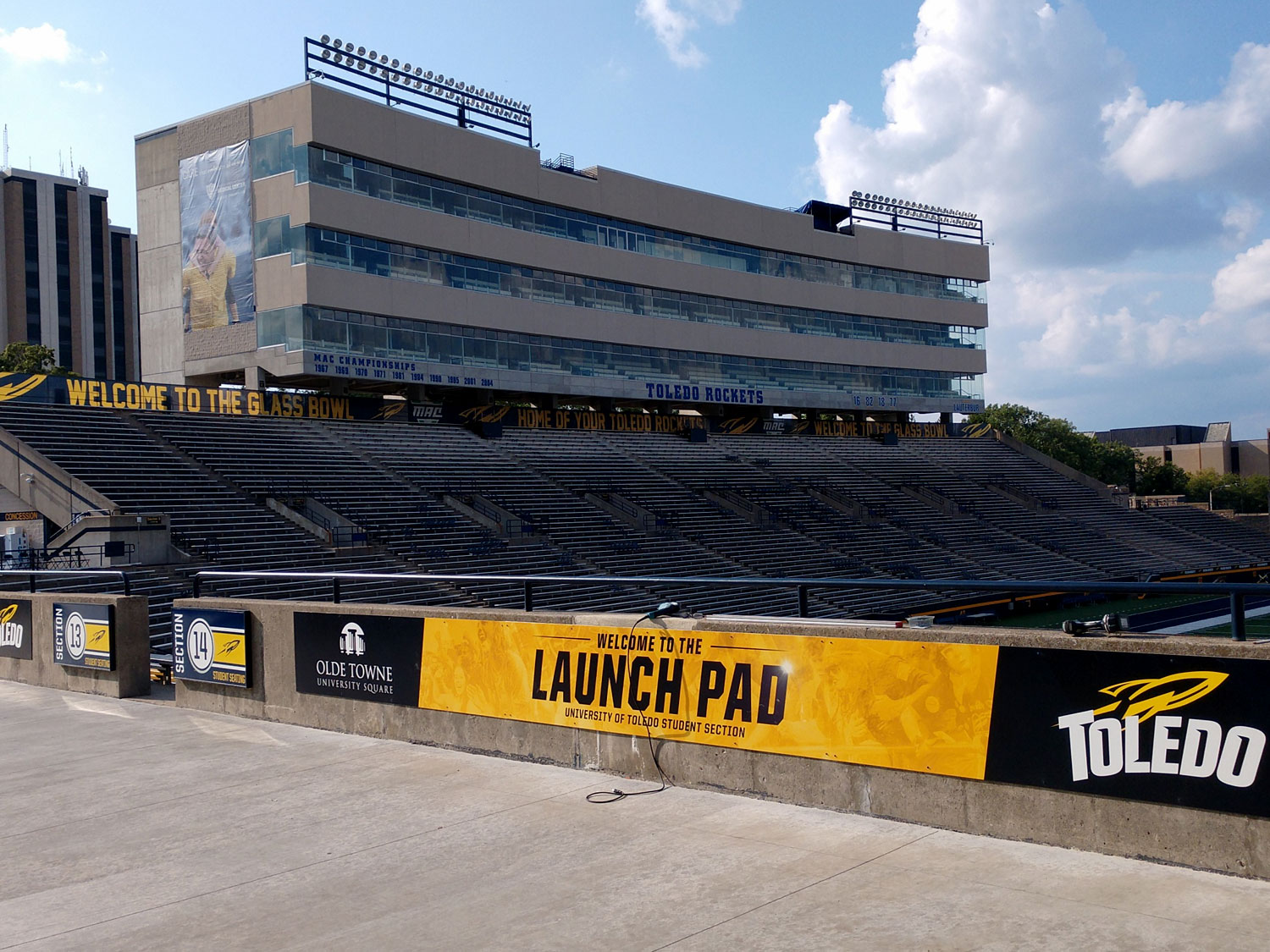 University of Toledo Stadium Graphics