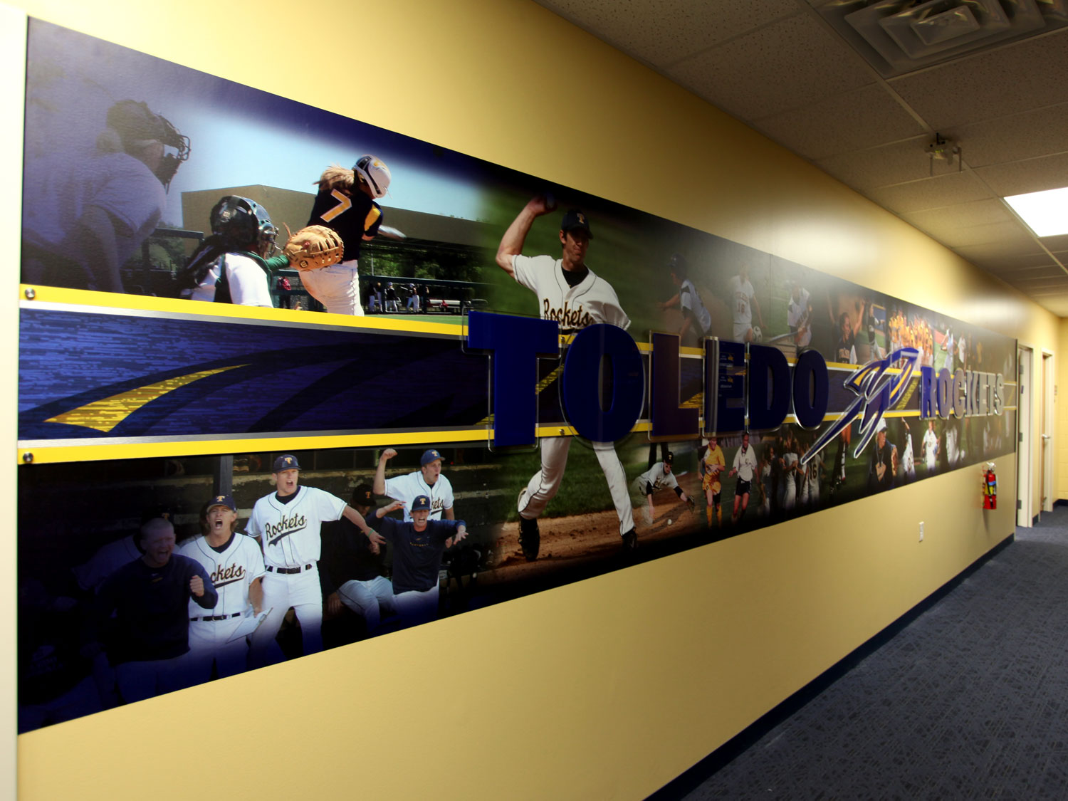 University of Toledo Baseball Wall Graphics and Dimensional Signage