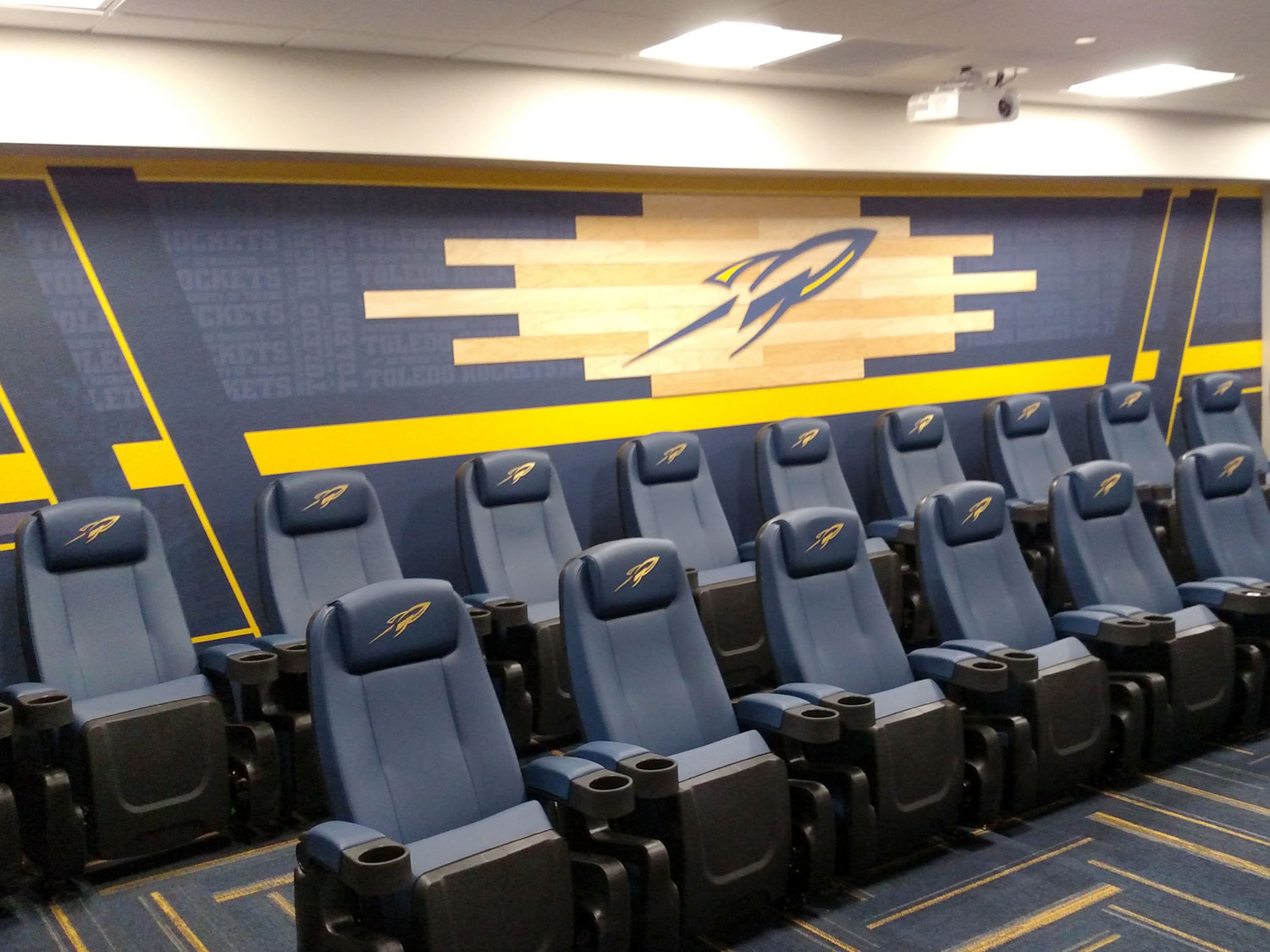 University of Toledo Press Room Wall Graphics and Seating Graphics