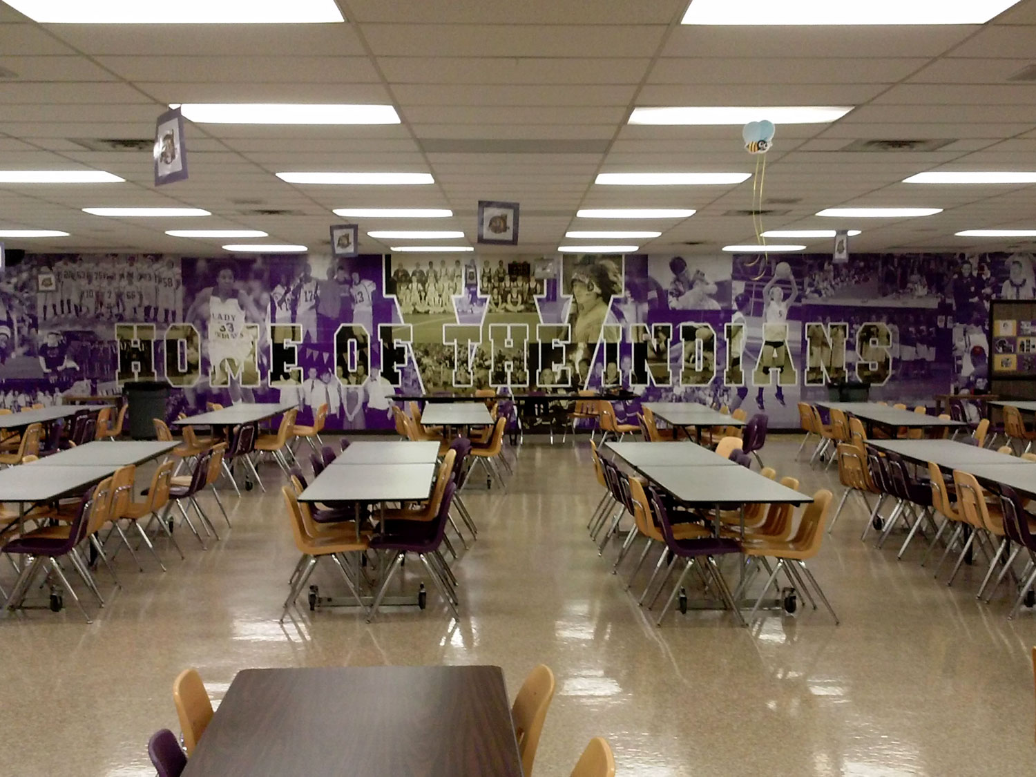 Toledo Waite High School Cafeteria Wall Graphic