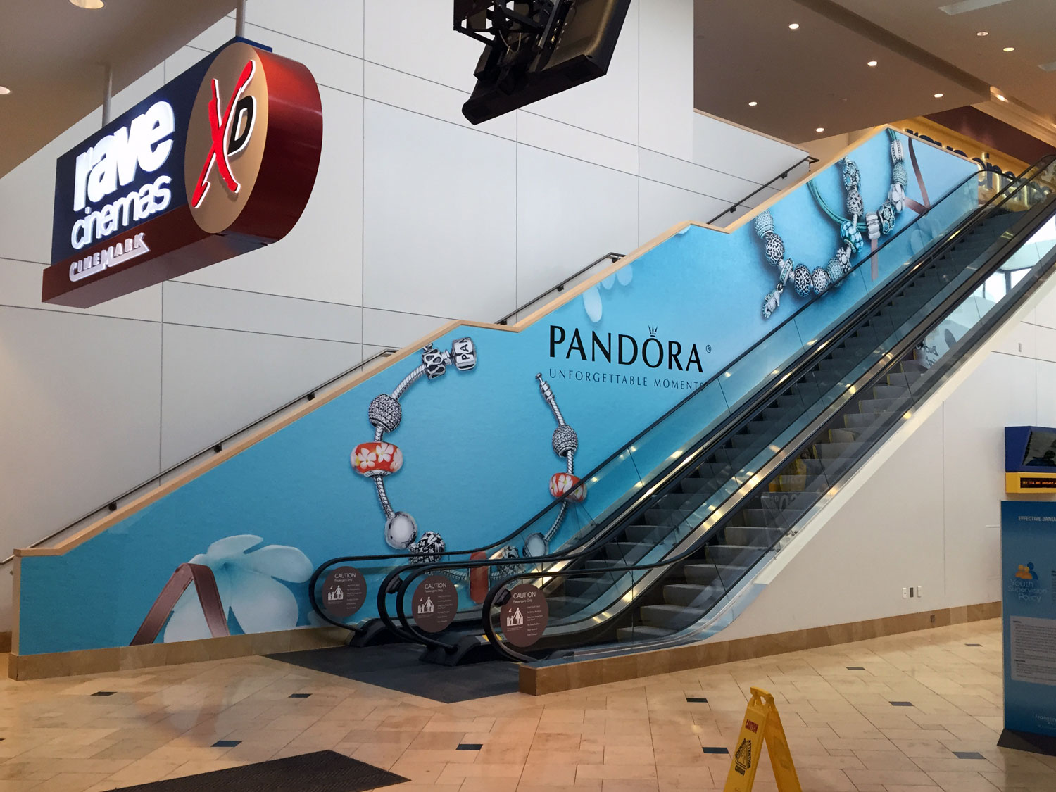 Westfield Shopping Center Toledo Escalator Graphic Wrap