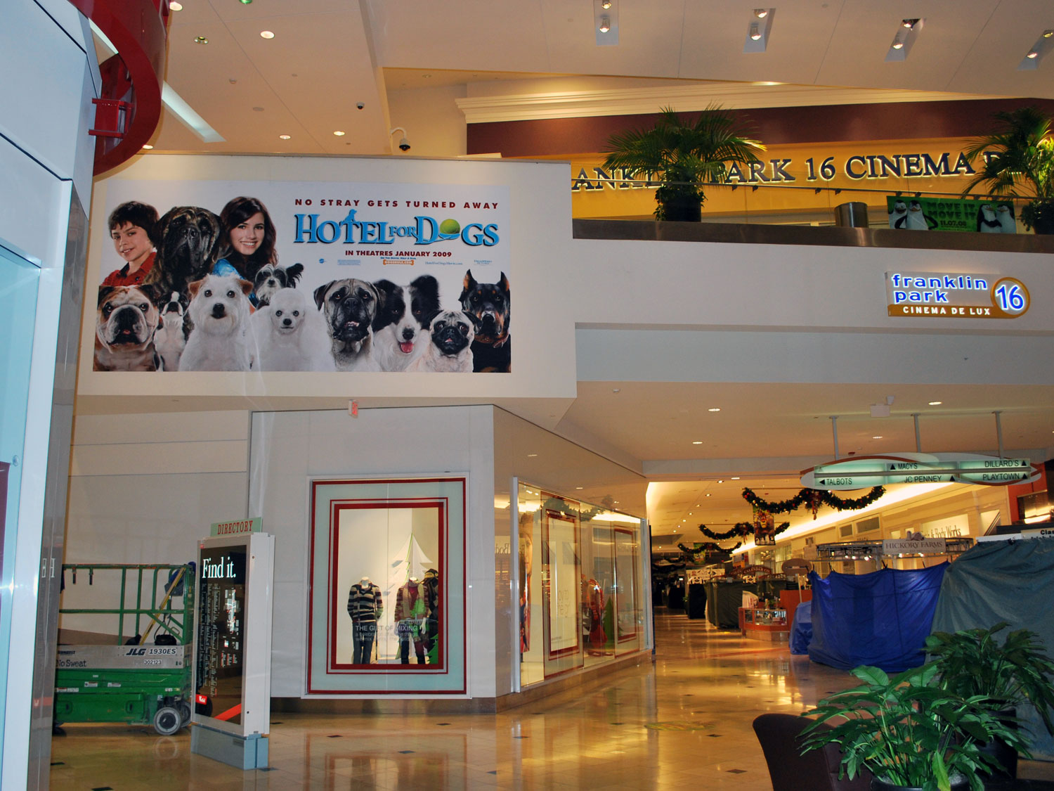 Westfield Shopping Center Toledo Movie Promotion Banner Graphic