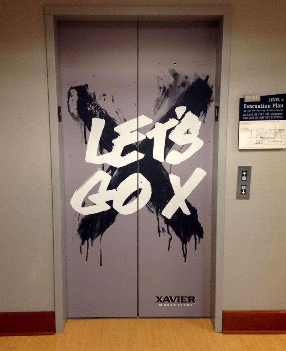 Xavier University Elevator Graphic