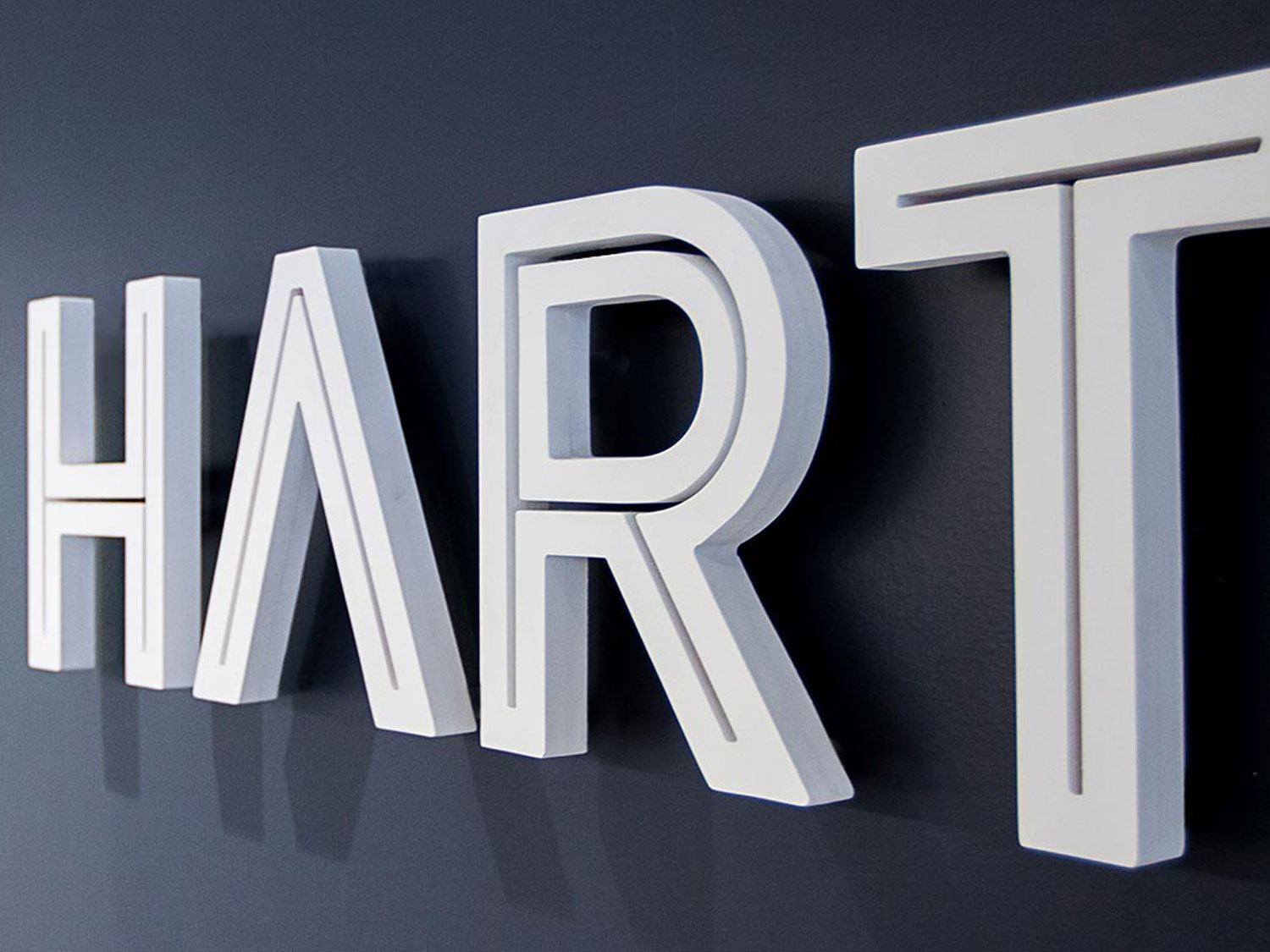 Hart Corporate Office Acrylic Wall Display