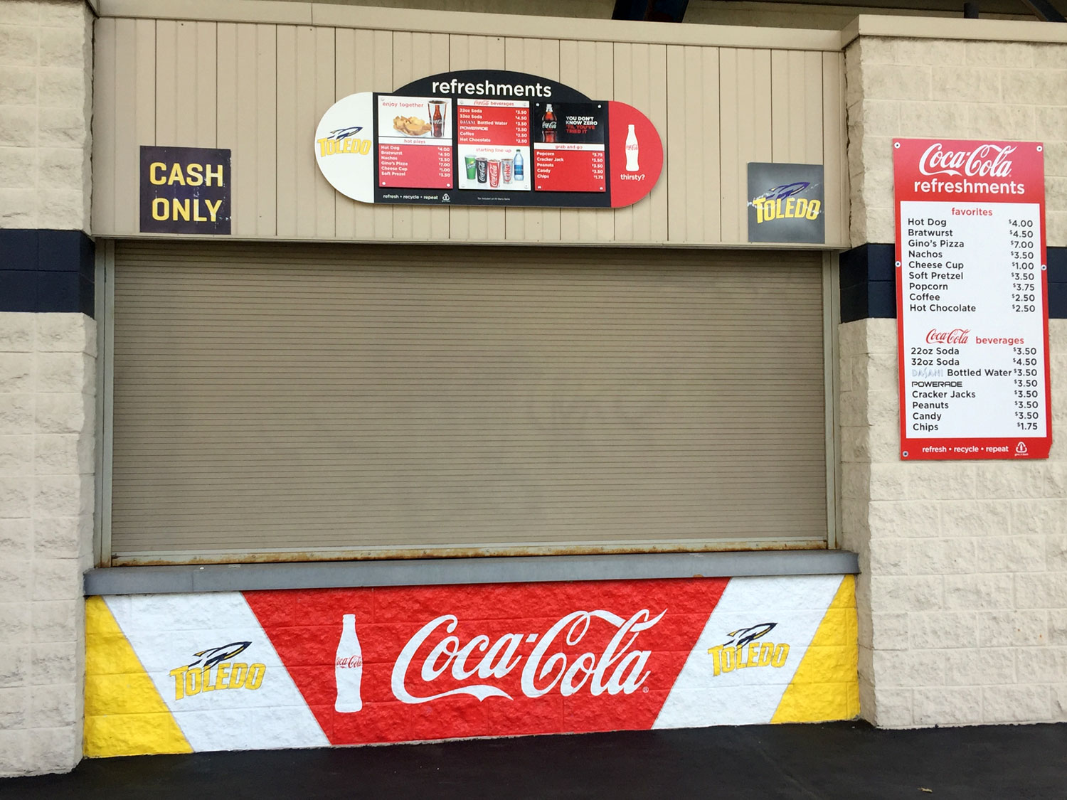 University of Toledo Rockets Concession Signage