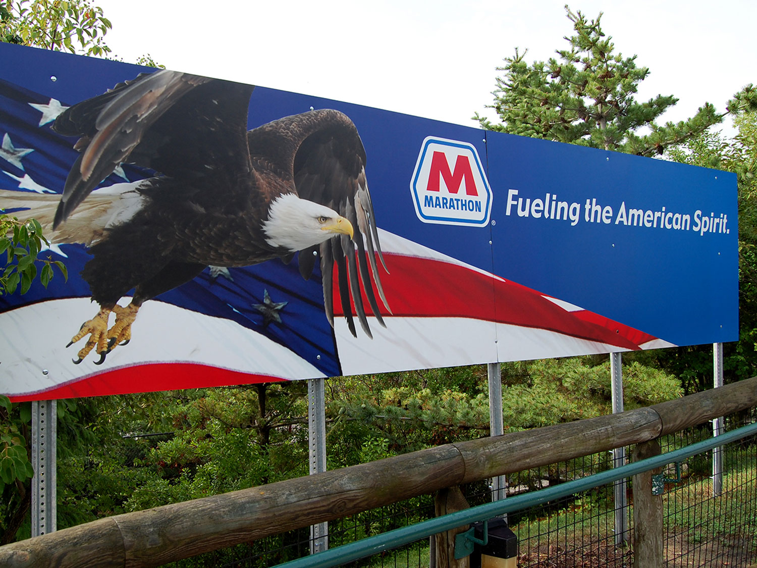 Marathon Gas Billboard Signage