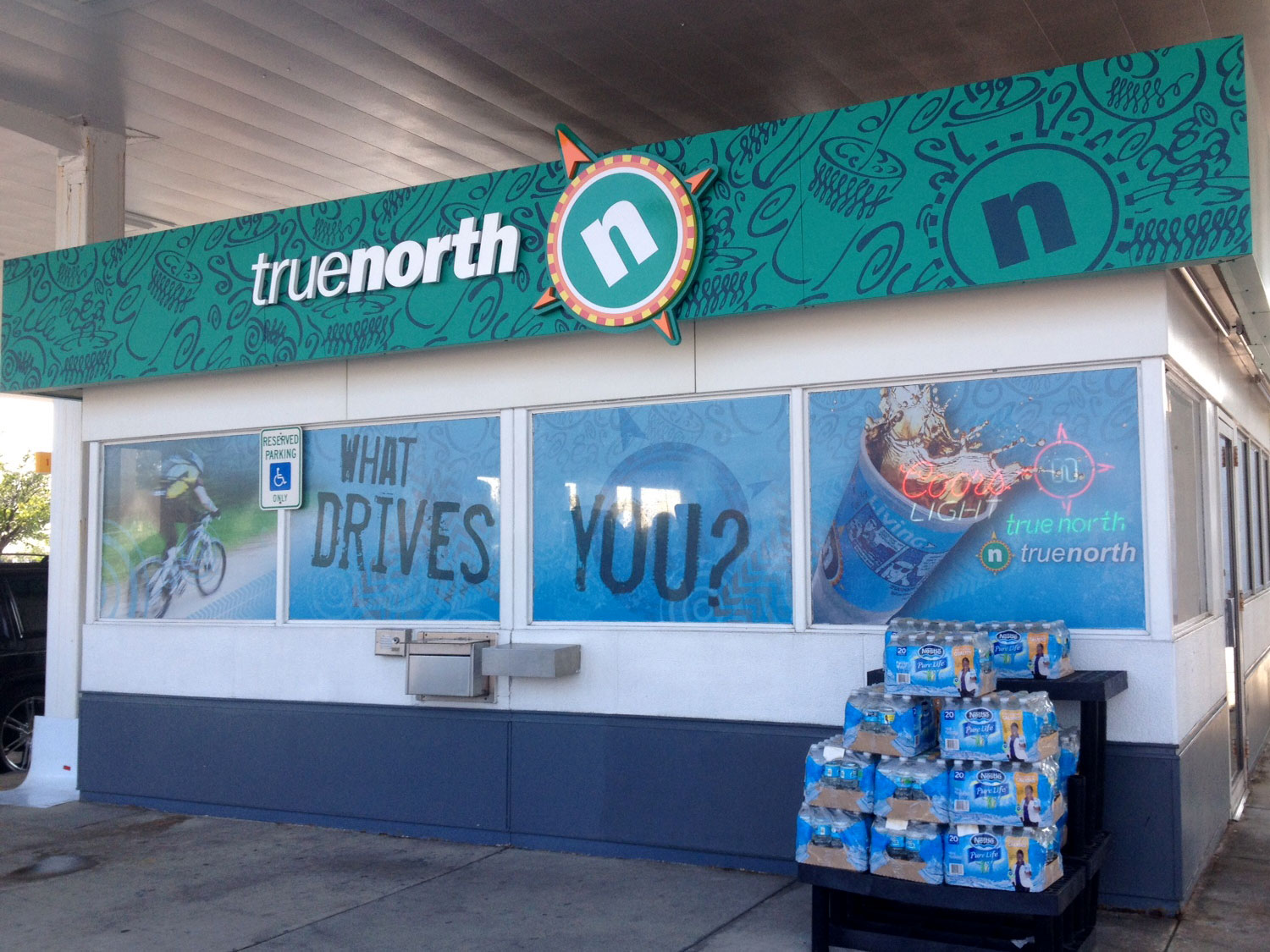 True North Gas Station Window Graphics and Signage